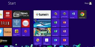 TuneIn tile on Windows* 8 start screen